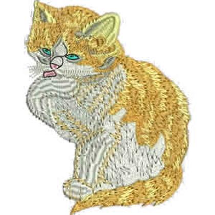 Ginger Kitten Embroidery Design