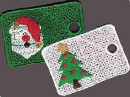 10 Set Christmas Gift Tags Embroidery Design
