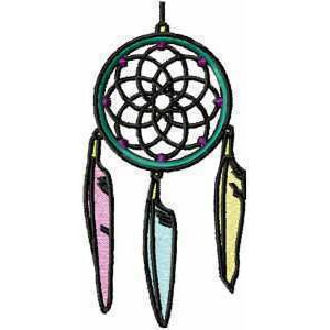 Feather Dream Catcher Embroidery Design