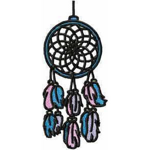Indian Dream Catcher Embroidery Design