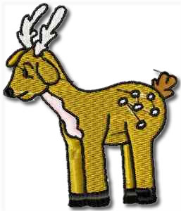 Critters Deer Embroidery Design