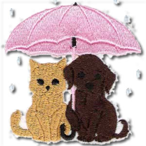 Kitten And Puppy Embroidery Design