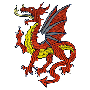 Welsh Dragon Embroidery Design