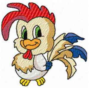 Farm Animals Rooster Embroidery Design
