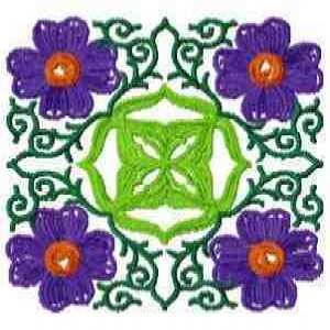 Violet Quilting Block Embroidery Design