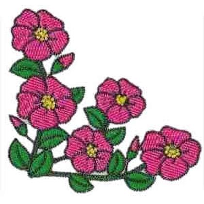Primula Floral Embroidery Design