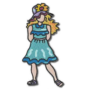 Whimsical Girl Embroidery Design