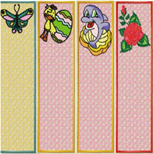 8 Set Free Standing Bookmark Embroidery Design