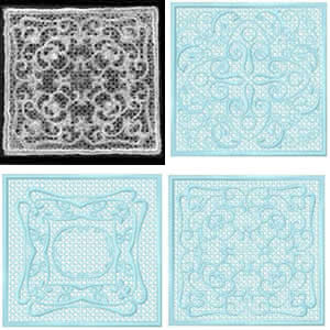 10 set FSL Lace Squares Embroidery Design