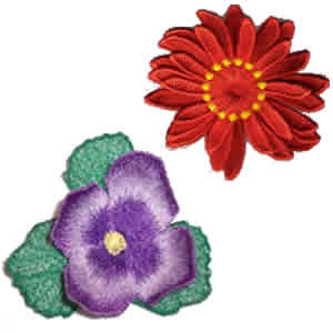 8 set of 3D Flower Embroidery Design