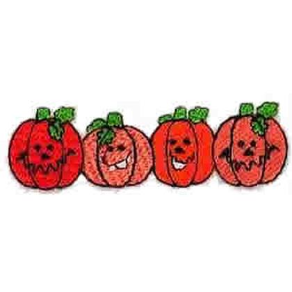 Cute Pumpkins Embroidery Design