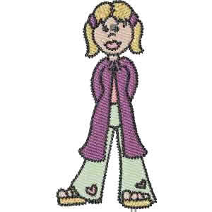 Cool Girl Embroidery Design