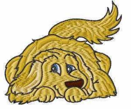 Golden Retriever Puppy Embroidery Design