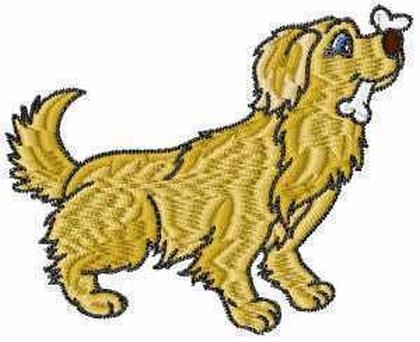 Golden Retriever Dog Embroidery Design