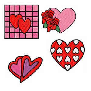 50 Set of Hearts Embroidery Design