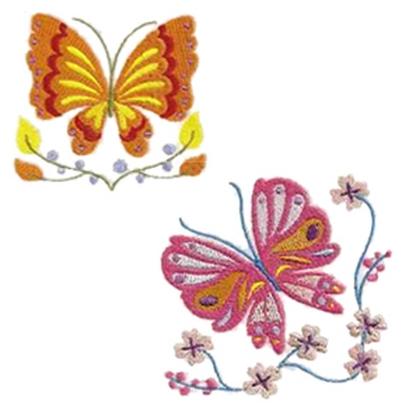 10 set Lovely Butterflies Embroidery Design