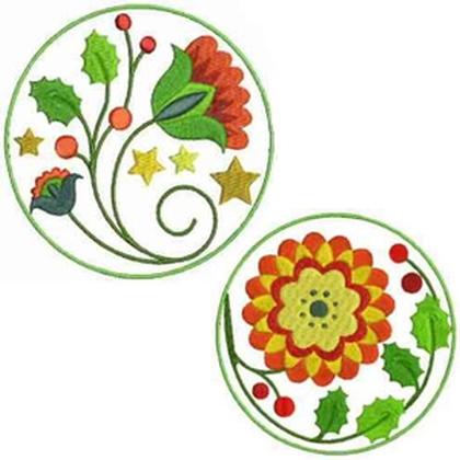 Jacobean Christmas Embroidery Design