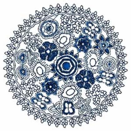 Circular Lace Embroidery Design