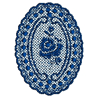 Oval Lace Design Embroidery Design