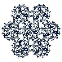 Snowflake Lace Design Embroidery Design