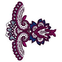 Corner Lace  Embroidery Design