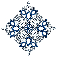 Symmetrical Lace Embroidery Design