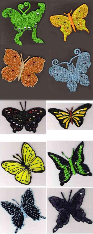 10 Set FSL Lace Butterfly
