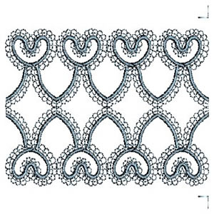 Linen Continuous Lace Border Embroidery Design
