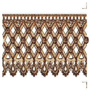 Honeycomb Continuous Lace Border Embroidery Design