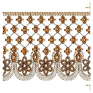 Trellis Continuous Lace Border Machine Embroidery Designs