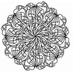 Lace Petal Doily Embroidery Design