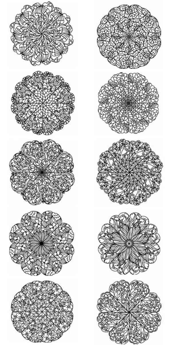 10 set Lace Petals
