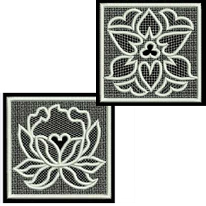 10 set FSL Squares Embroidery Design