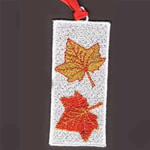 Autumn Leaves Bookmark Embroidery Design