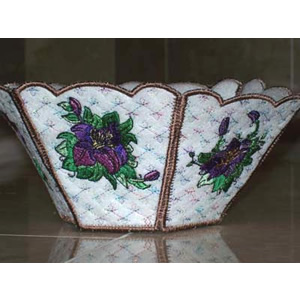 Bueatiful Lily Bowl Embroidery Design