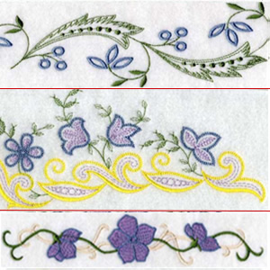 Set 1 Linens Embroidery Design
