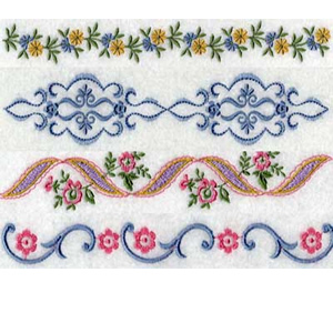 30 set Linen Borders Embroidery Design