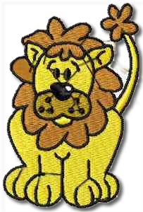 Critters Lion Embroidery Design