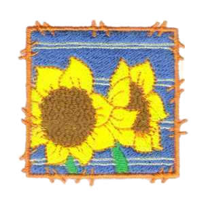 Garden Sunflower Embroidery Design