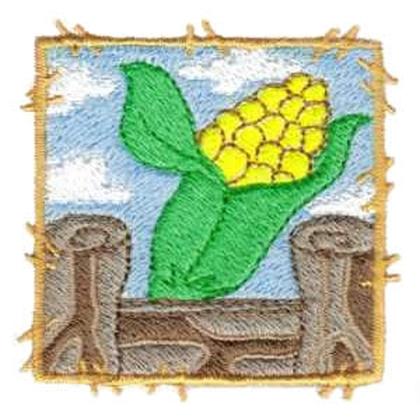 Corn on the cob Embroidery Design