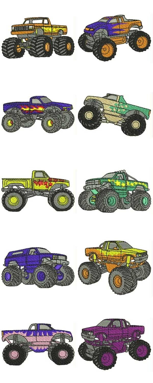10 set Monster Trucks