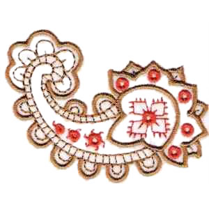 Classic Paisley Embroidery Design