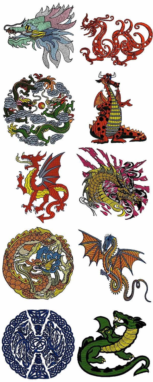 10 set of Dragons