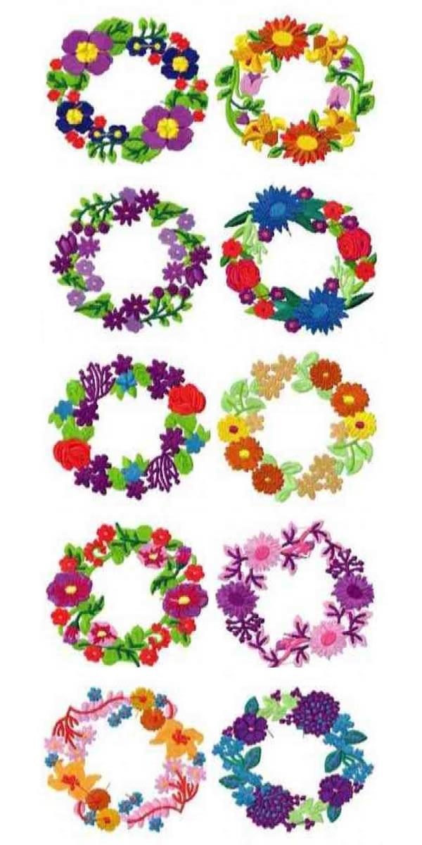 10 Set of Floral Wreath