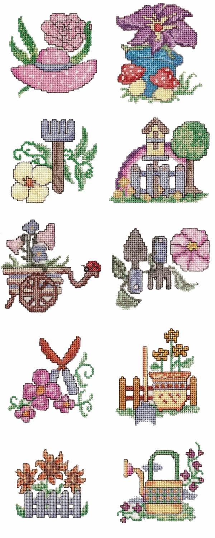 90 set Garden Cross Stitch