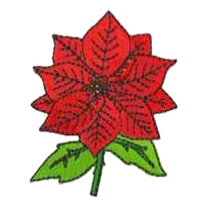 Single Poinsettia Embroidery Design