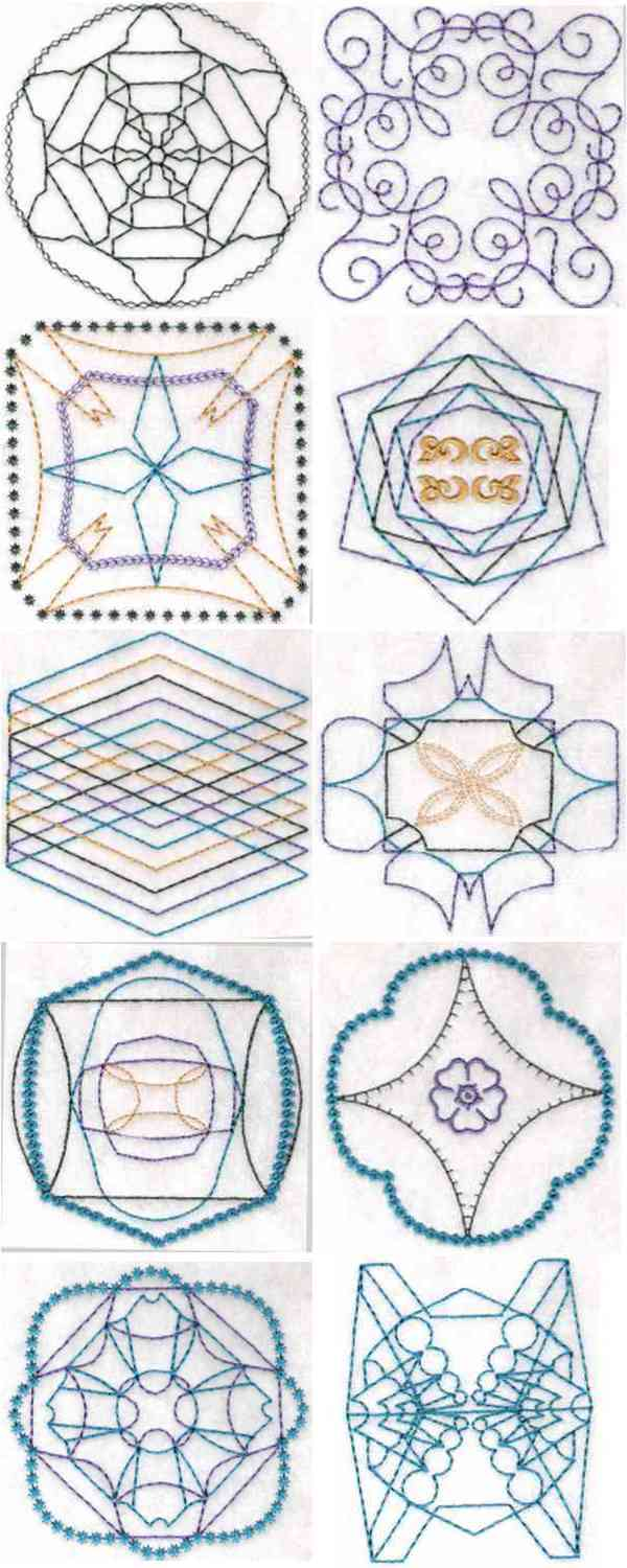 Advanced Embroidery Designs. Quilting Embroidery Designs.