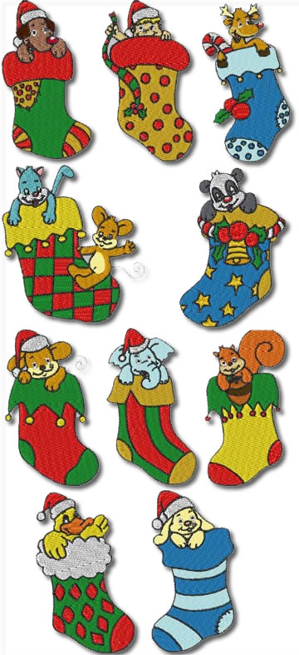 10 Set Christmas Stockings