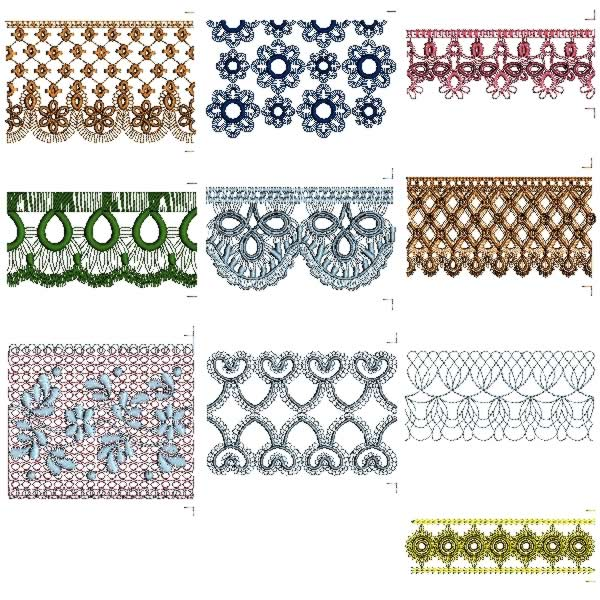 LACE EMBROIDERY PATTERNS