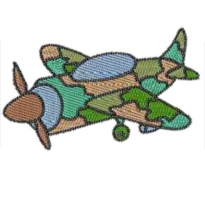 Spitfire Ariplane Embroidery Design